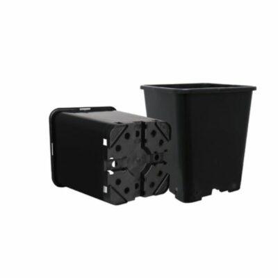 עציץ מרובע 11 ליטר שחור קשיח