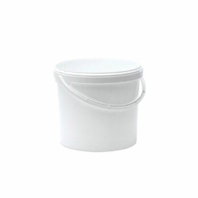 דלי 12 ליטר לבן קשיח