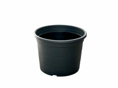 עציץ 18 ליטר שחור עגול