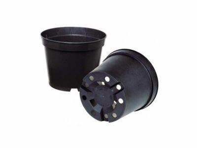 עציץ שחור עגול נפח 3 ליטר
