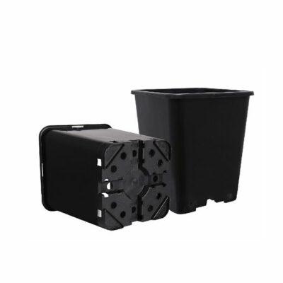 עציץ מרובע שחור 7 ליטר הידרו