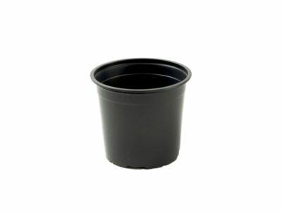 עציץ 8 ליטר שחור עגול קשיח לשתילה