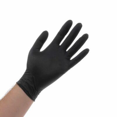 כפפות שחורות לייטקס גומי