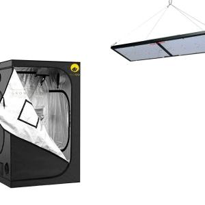 אוהל 80X80 + קוואנטום 240W LED לצמחים