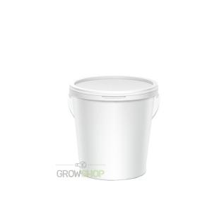דלי 2.5 ליטר לבן כולל מכסה