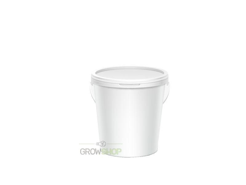 דלי לבן עם מכסה נפח 2.5 ליטר