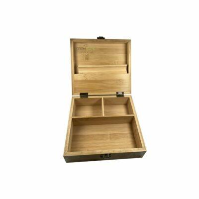 קופסת תכשיטים מעץ במבוק חלק